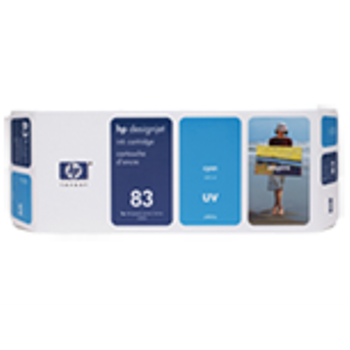 HP 83 680 ml UV Cyan Ink Cartridge C4941A