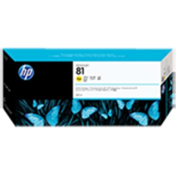 HP 81 680 ml Dye Yellow Ink Cartridge C4933A