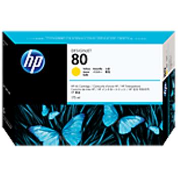 HP 80 175 ml Yellow Ink Cartridge C4873A