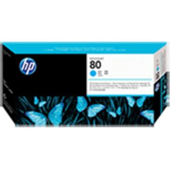 HP 80 Cyan Printhead and Printhead Cleaner C4821A