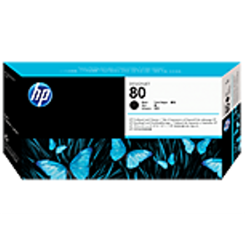 HP 80 Black Printhead and Printhead Cleaner C4820A