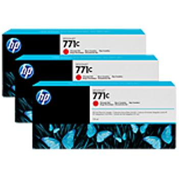 HP 771C 3'lü paket 775-ml Kromatik Kýrmýzý Designjet Mürekkep Kartuþlarý B6Y32A