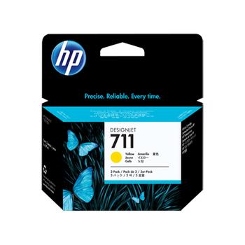 HP 711 3'lü paket 29 ml Sarý Mürekkep Kartuþu CZ136A
