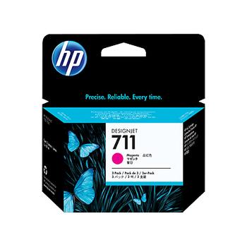 HP 711 3'lü paket 29 ml Macenta Mürekkep Kartuþu CZ135A