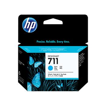 HP 711 3'lü paket 29 ml Camgöbeði Mürekkep Kartuþu CZ134A