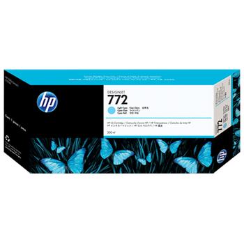 HP 772 300-ml Light-Cyan Ink Cartridge CN632A