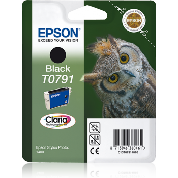 T0791 Black, With ink EPSON Claria, in blister pack RS. C13T07914010