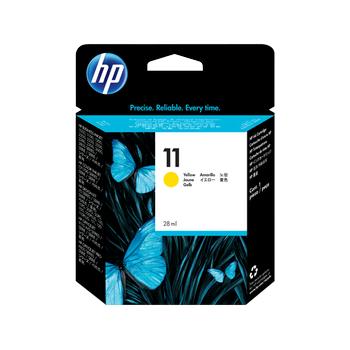 HP 11 Sarý Orijinal Mürekkep Kartuþu (C4838A)