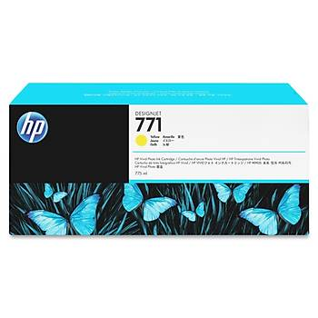 CE040A Hp 771 Yellow 775ml Hp Designjet Z6200 Hp 771 Yellow 775ml(sarý)