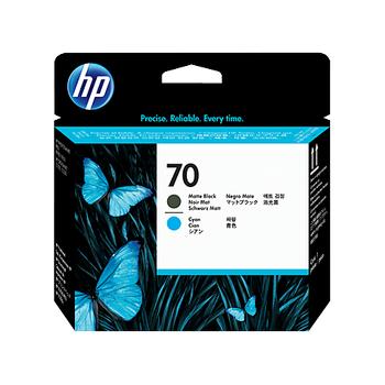 HP 70 Matte Black and Cyan Printhead C9404A