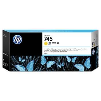 HP 745 300 ml TasarýmJet Sarý Mürekkep Kartuþu (F9K02A)