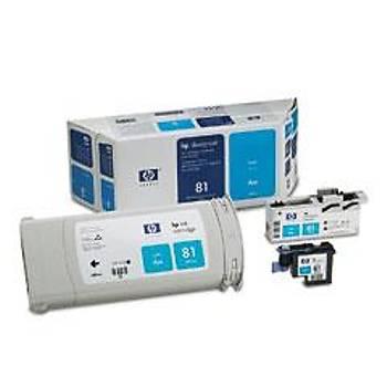 C4991A HP Designjet 5000-5500 Mavi Kartuþ+Kafa+Kafa Temizleyici(680ml)