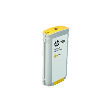 HP T830 728 Designjet Yellow Ink Cartridge130 ml F9J65A