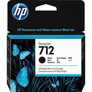 HP 712 Siyah 80ml Orijinal DesignJet Mürekkep Kartuþu 3ED71A
