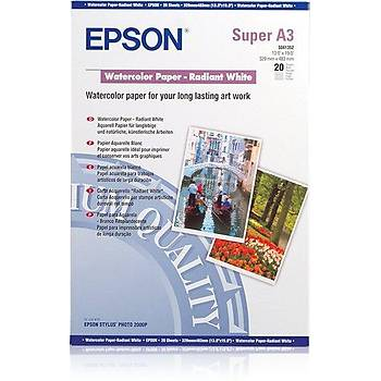 EPSON A3+ Watercolor Paper - Radiant White (20 sheets) C13S041352