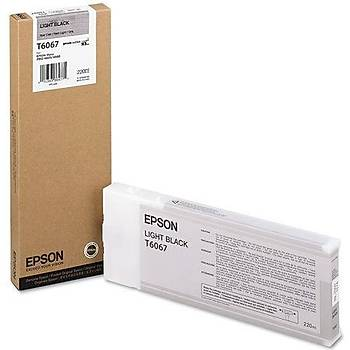 Epson T6067-C13T606700 Açýk Siyah Orjinal Kartuþ