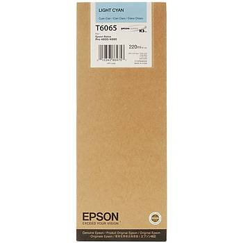 Epson T6065-C13T606500 Açýk Mavi Orjinal Kartuþ