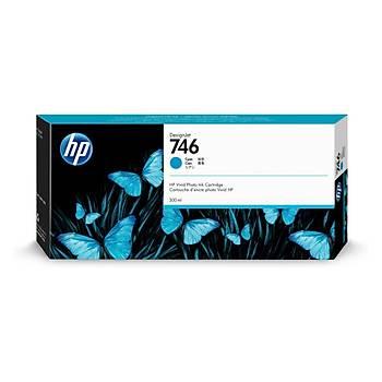HP P2V80A (746) Mavi Mürekkep Kartuþu (300 ml) Yeni Tarihli 2022
