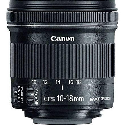 Canon EF-S 10-18mm f/4.5-5.6 IS STM Lens Distribütör Garantili