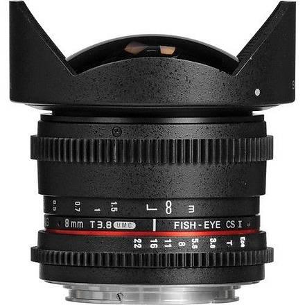 Samyang 8mm T3.8 VDSLR Canon Uyumlu Lens