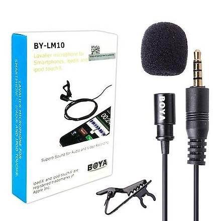Boya BY-LM10 Ýphone 4 5 5S 5SE 6 6S 6 Plus 7 7 Plus 8 X Uyumlu Ya