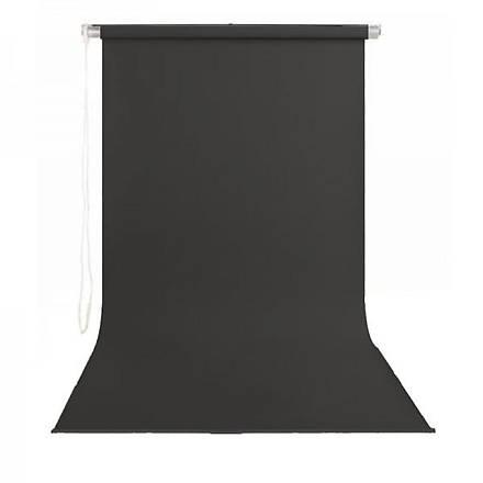 Stüdyo Teknik 190cm x 400cm Sonsuz Siyah Fon Perdesi Seti