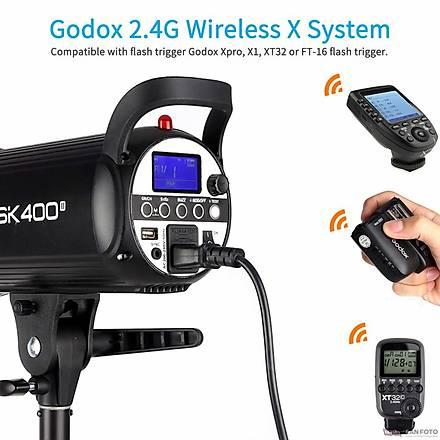 Godox SK400 II W/S 3'lü Stüdyo Paraflaþ SoftBox Seti