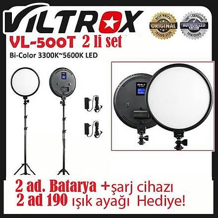 Viltrox VL-500T 2 Li Set Yuvarlak Bicolor LED Iþýk