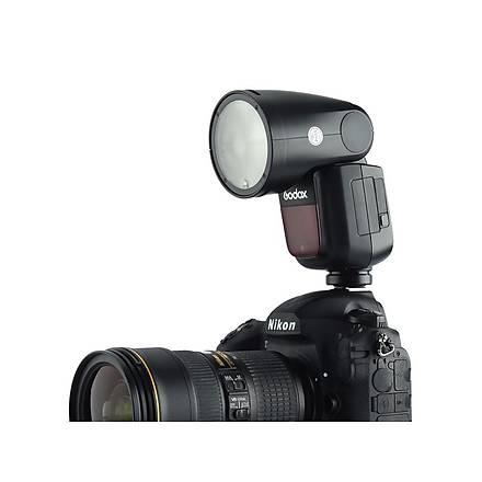 Godox V1 Nikon Flash Kit (Yuvarlak Kafa)