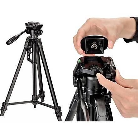 Canon 1200D Fotoðraf Makinesi Ýçin 135cm Tripod + Taþýma Çantasý