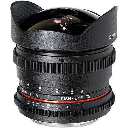 Samyang 8mm T3.8 VDSLR Nikon Uyumlu Lens