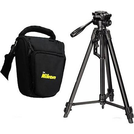 Nikon D5500 Fotoðraf Makinesi Ýçin 135cm Tripod + Üçgen Çanta