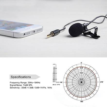 Samsung Telefon Tablet Ýçin Boya BY-LM10 Yaka Mikrofonu