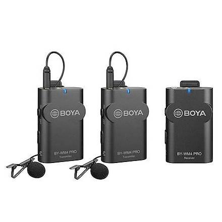 Boya BY-WM4 Pro K2 Ýki Mikrofonlu Kablosuz Yaka Mikrofonu