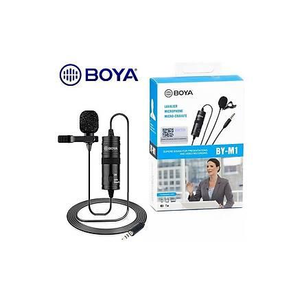 Boya By-M1, Nikon D5600 Kablolu Yaka Mikrofonu Phone+Dslr+Camera