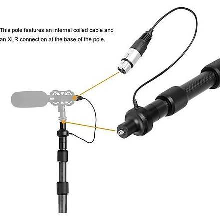 Boya BY-PB25 Karbon Fiber Mikrofon Sopa Boom Pole