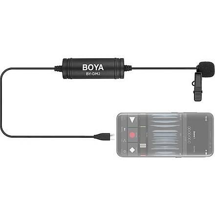 Boya By-Dm2 Type-C Giriþli Telefon Yaka Mikrofonu