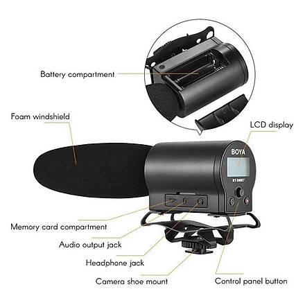 Boya BY-DMR7 Kendi Ýçine Kayýt Yapabilen Kamera Üstü Mikrofon