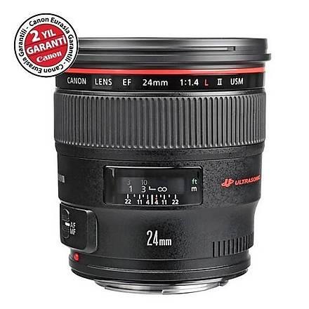 Canon EF 24mm f/1.4 L II USM Lens Distribütör Garantili