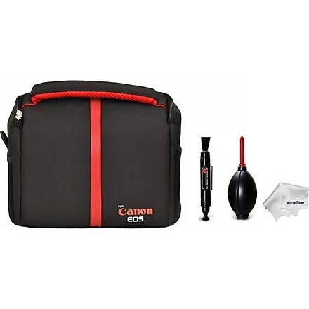 Pdx Kare Omuz Set Çanta + Hava Temizleme Pompasý + Lenspen + Microfiber Bez - Canon 70D 77D 80D 1000D 1100D 1200D