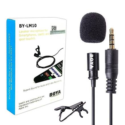 Yüksek Kaliteli Yaka Mikrofonu Boya BY-LM10