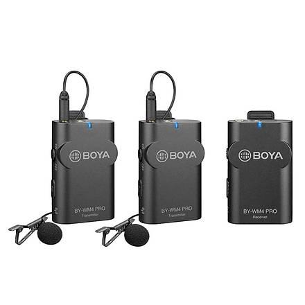 Boya BY-WM4 Pro K2 Röpörtaj Ýçin Ýkili Kablosuz Yaka Mikrofonu