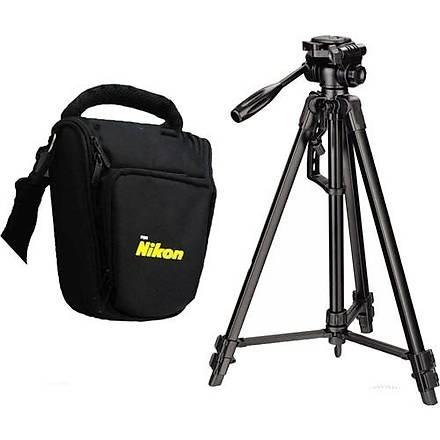 Nikon D3400 Fotoðraf Makinesi Ýçin 157cm Tripod + Üçgen Çanta