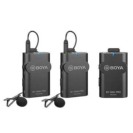 Boya BY-WM4 Pro K2 Ýki Vericili Kompakt Kablosuz Mikrofon