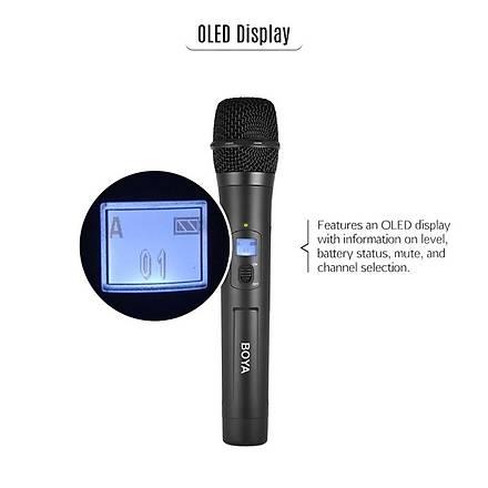 Boya BY-WHM8 Pro Video Kameralar Ýçin Kablosuz El Mikrofonu Seti