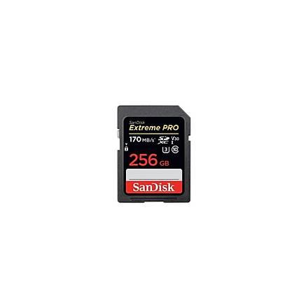 Sandisk Extreme Pro 256GB SDXC Card 170MB/s V30 UHS-I U3 Hafiza Kartý SDSDXXY-256G-GN4IN