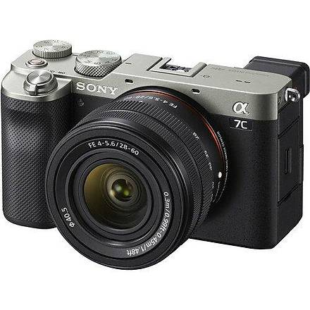 Sony A7C 28-60mm Lensli Fotoðraf Makinesi (Silver)