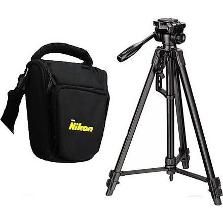Nikon D3000 Fotoðraf Makinesi Ýçin 157cm Tripod + Üçgen Çanta