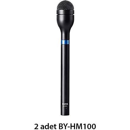 Boya Ýkili Kablosuz Dinamik El Tipi Mikrofon Seti