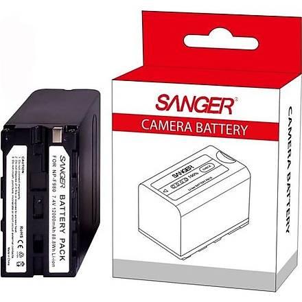 Sanger Sony NP-F 980 Kamera ve Led Batarya (12.000 mAh )